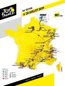 Tour de France 2019 mappa generale