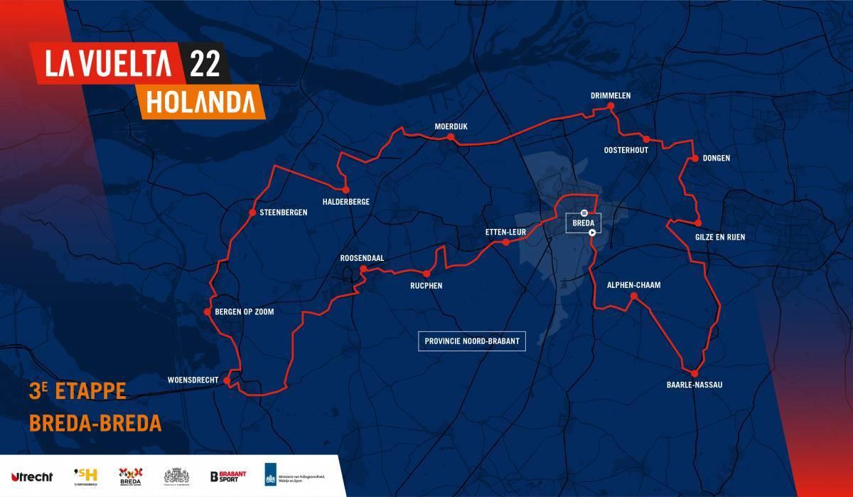 3 tappa mappa Vuelta 2022